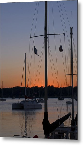 Boats At Beaufort Metal Print