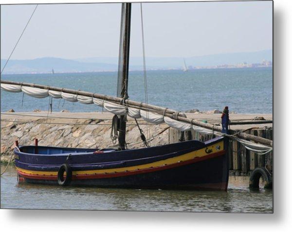 Boat At St Marie Metal Print