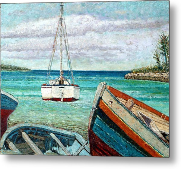 Boats By The Bay Metal Print