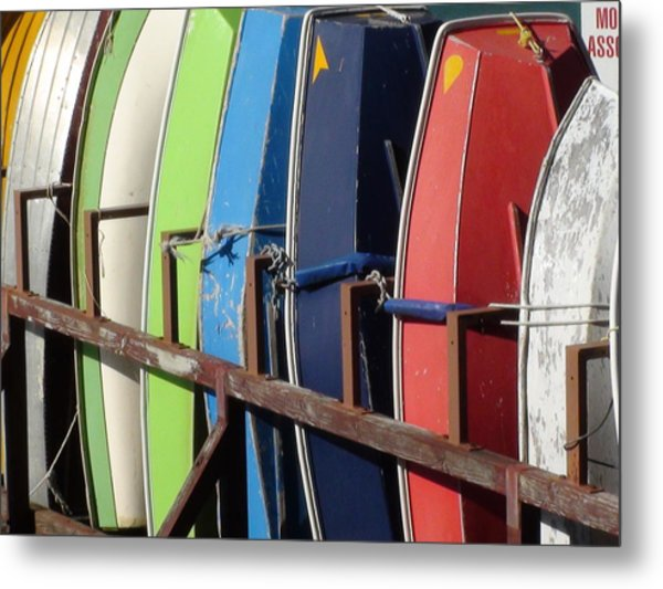 Boats For Rent Metal Print by Carolyn Bistline