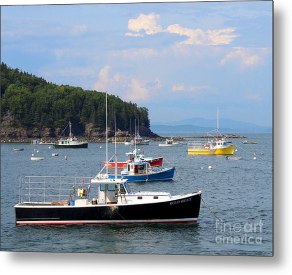 Metal Print featuring the photograph Boats In Bar Harbor by Jemmy Archer