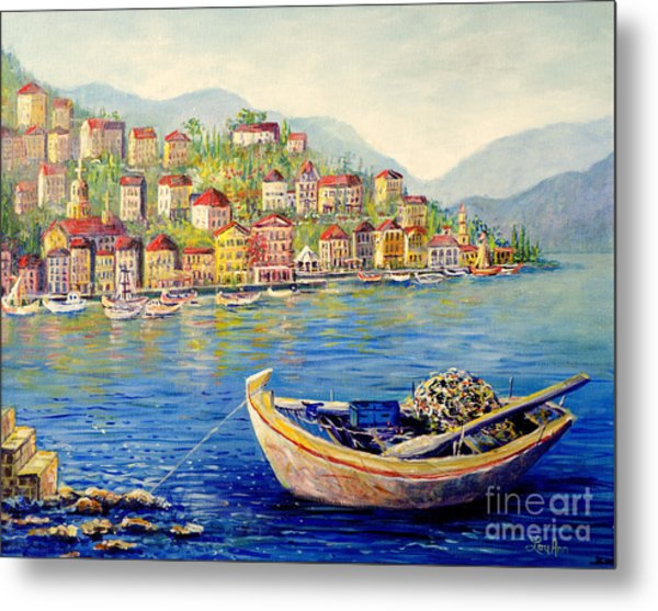 Boats In Italy Metal Print