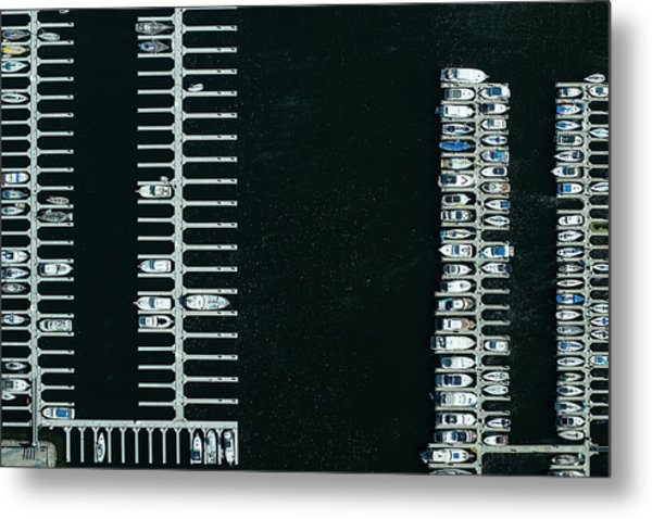 Boats In The Harbour Metal Print by Michael H