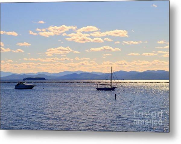 Boats On Lake Champlain Vermont Metal Print