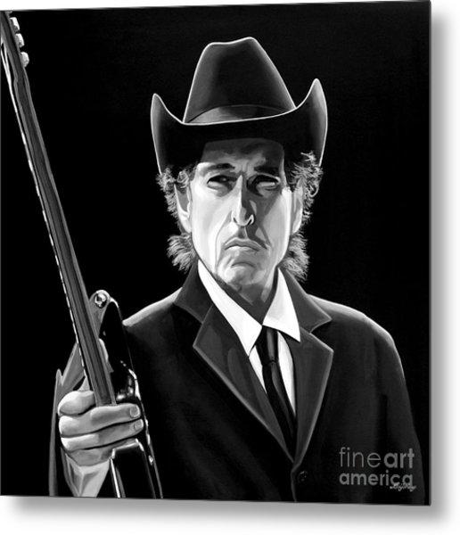 Bob Dylan 2 Metal Print by Meijering Manupix