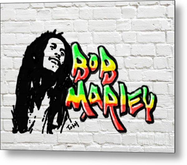 Bob Marley Graffiti 2 Metal Print