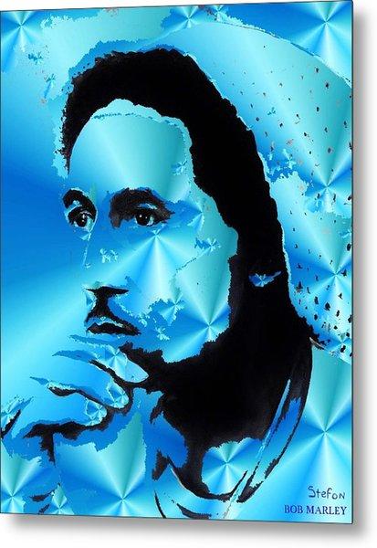 Bob Marley Portrait Metal Print by Stefon Marc Brown
