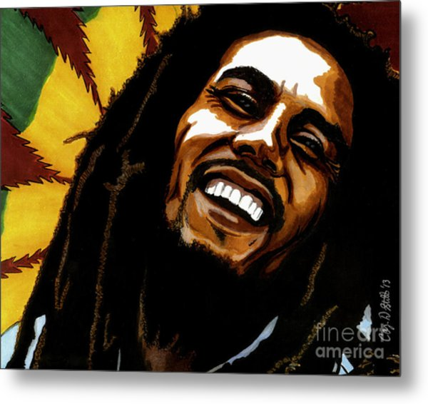 Bob Marley Rastafarian Metal Print