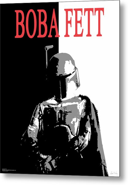 Metal Print featuring the digital art Boba Fett- Gangster by Dale Loos Jr
