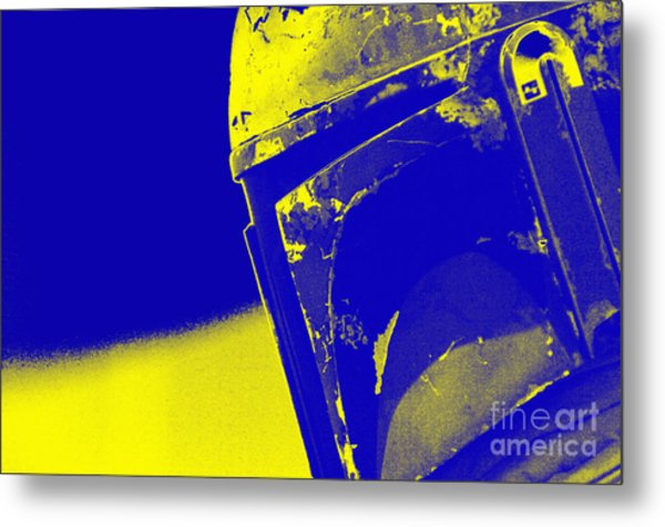 Boba Fett Helmet 20 Metal Print by Micah May