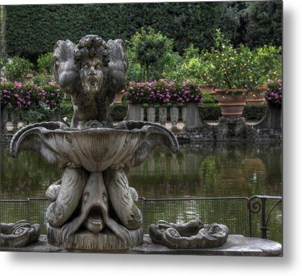 Boboli Fountain Metal Print