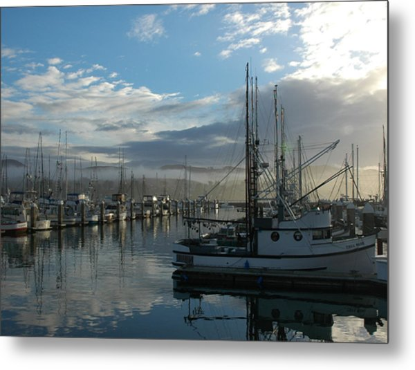 Bodega Fishing Boats Metal Print