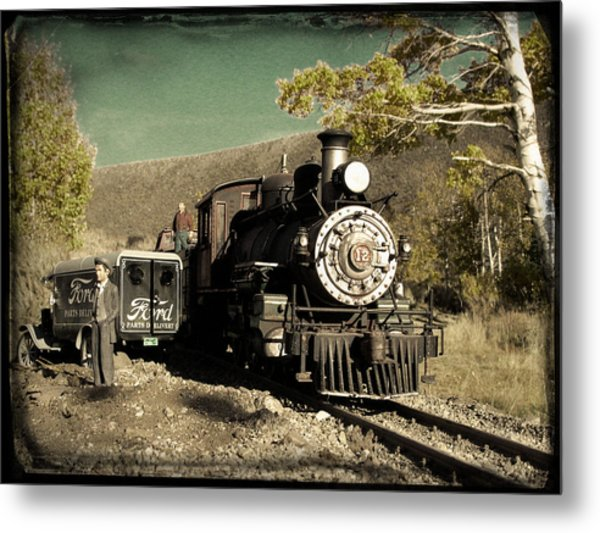 Metal Print featuring the photograph Bodie And Benton Road Crossing by David Bailey