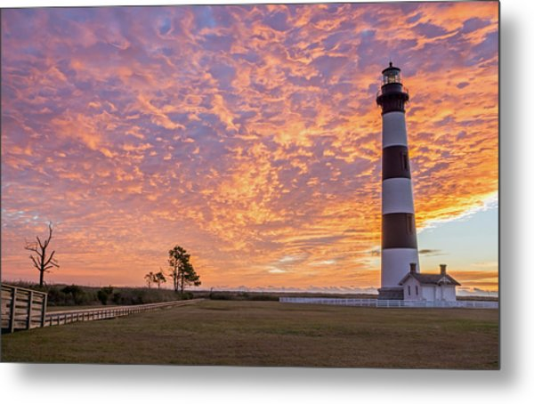 Bodie Island Lighthouse At Sunrise Metal Print
