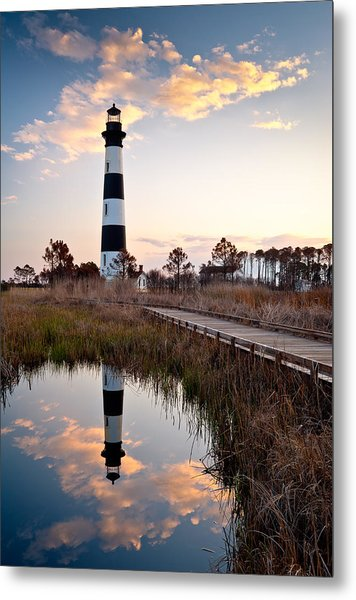 Bodie Island Lighthouse - Cape Hatteras Outer Banks Nc Metal Print