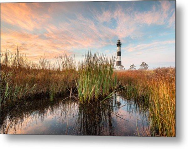 Bodie Island Lighthouse Coastal Marsh Reflections Metal Print by Mark VanDyke