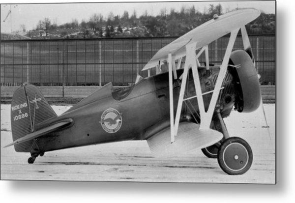 Boeing 100-f  P-12 Prototype Metal Print by Hank Clark