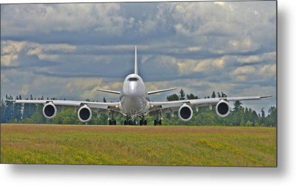 Boeing 747-800 Metal Print