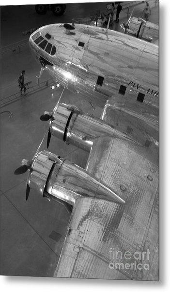 Boeing's Flying Cloud - Monochrome Metal Print
