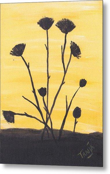 Bog Flower Bouquet Metal Print