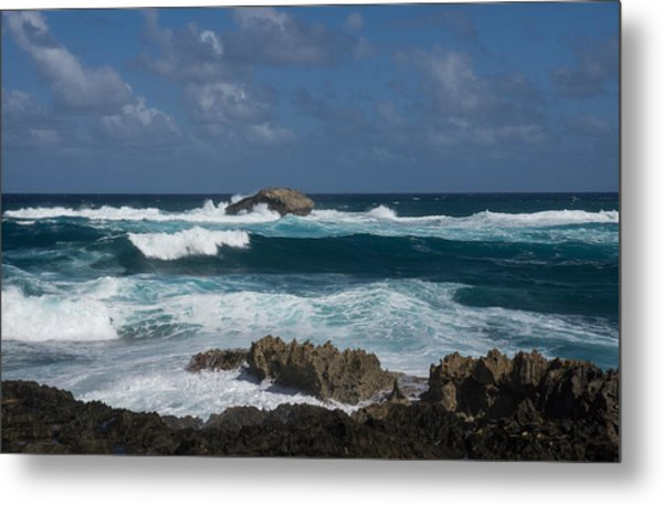 Boiling The Ocean At Laie Point - North Shore - Oahu - Hawaii Metal Print