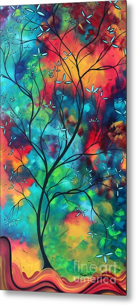 Bold Rich Colorful Landscape Painting Original Art Colored Inspiration By Madart Metal Print