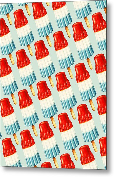 Bomb Pop Pattern Metal Print