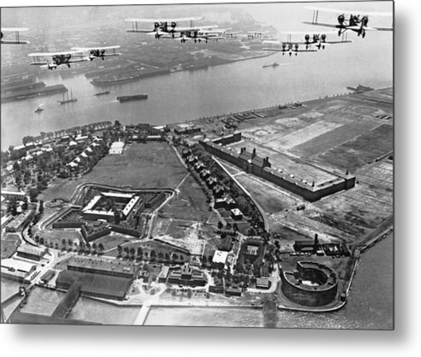 Bombers Over Governors Island Metal Print