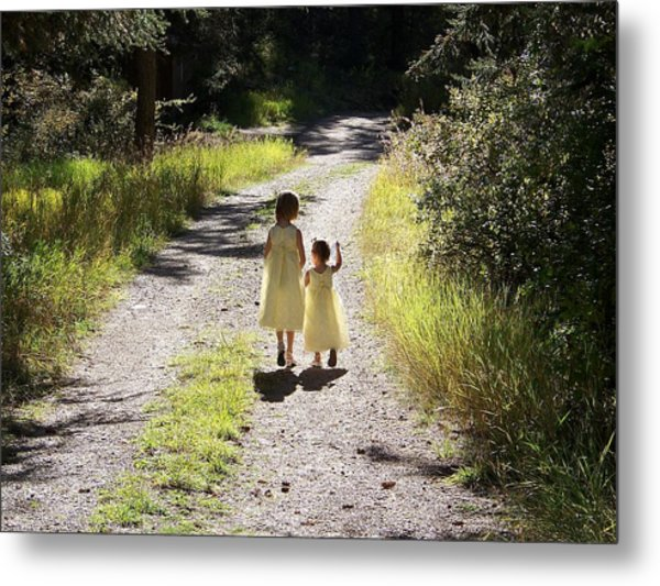 Bond Between Sisters Metal Print
