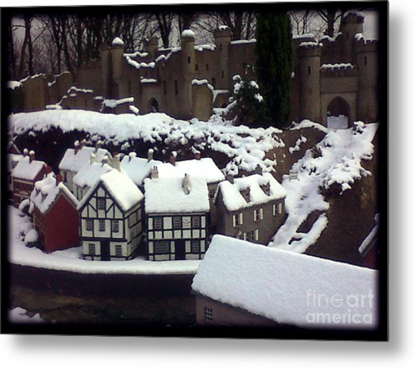 Bondville Model Village Metal Print by Merice Ewart