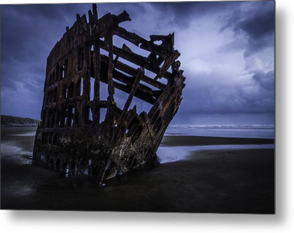 Bones Of The Peter Iredale Metal Print