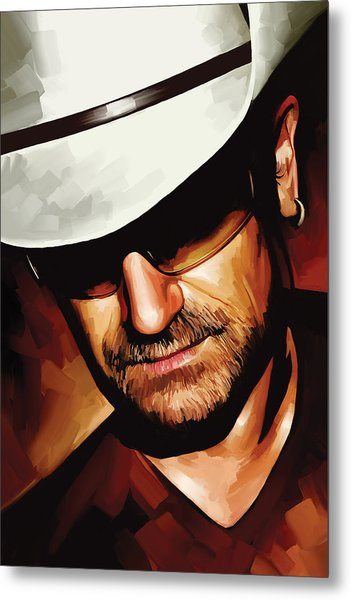 Bono U2 Artwork 3 Metal Print