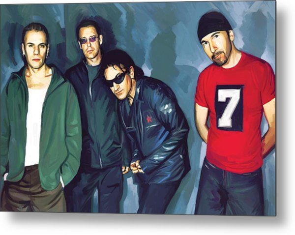 Bono U2 Artwork 5 Metal Print