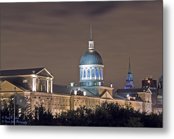 Bonsecours At Night Metal Print
