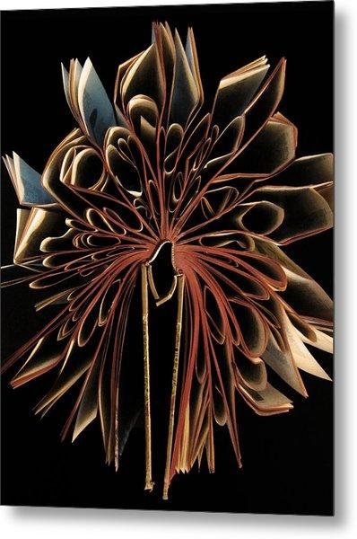 Book Flower Metal Print