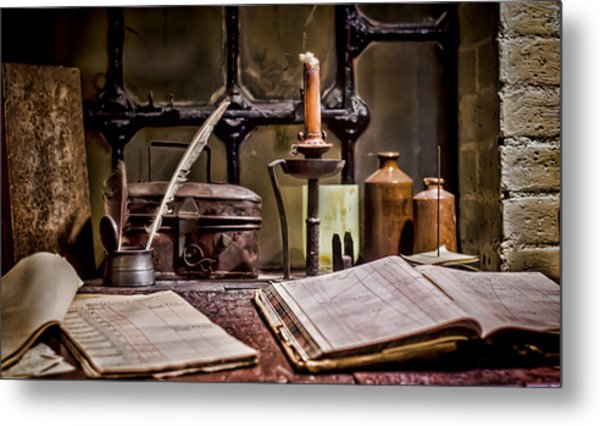 Book Keeper Metal Print