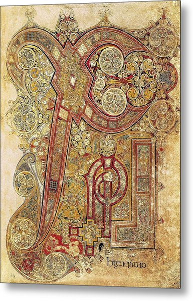 Book Of Kells. 8th-9th C. Chapter Metal Print