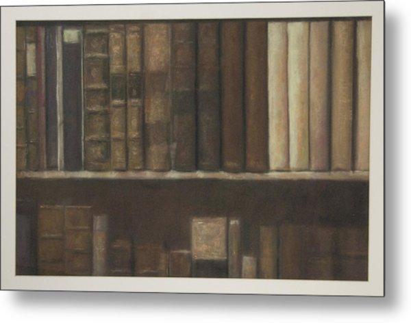 Bookshelf Metal Print