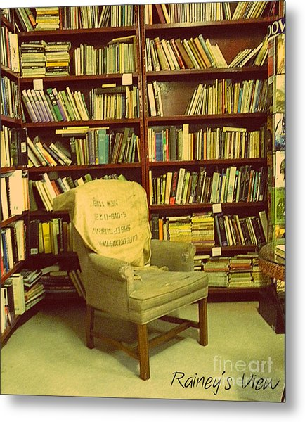 Bookstore Nook Metal Print by Lorraine Heath