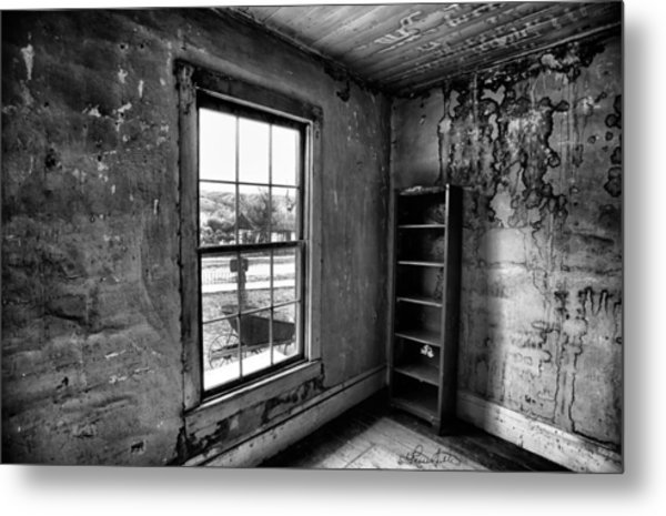 Boo's Room - Black And White Metal Print
