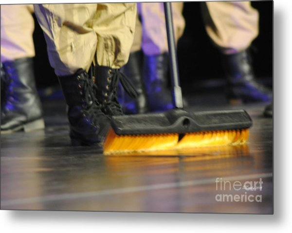 Boots And Brooms Metal Print