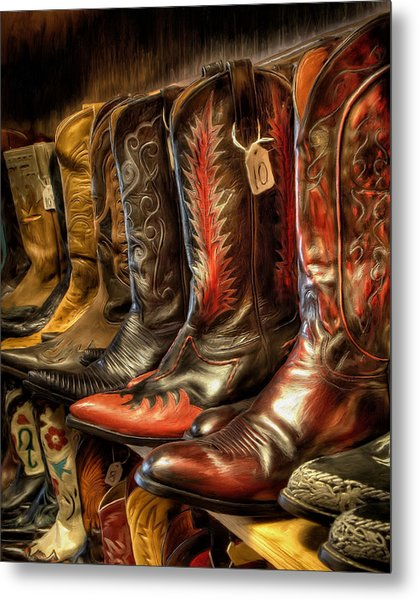Boot Rack Metal Print