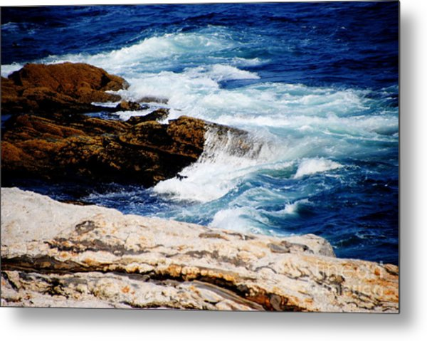 Boothbay Harbor Maine Metal Print by Jacqueline M Lewis