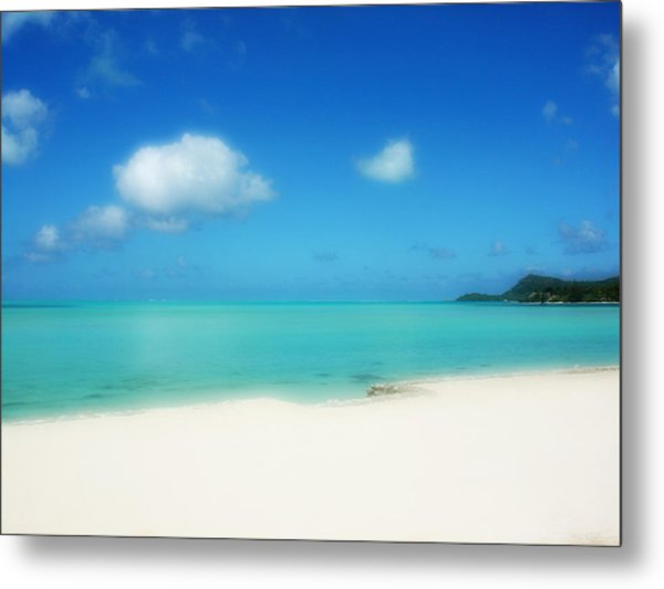 Bora Shades Of Blue And White Metal Print