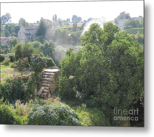 Bordeaux Village Cloud Of Smoke  Metal Print