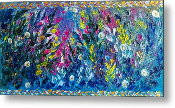 Born From Chaos Abstract Floral Art Metal Print