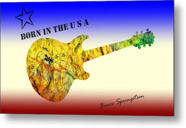 Born In The U S A Bruce Springsteen Metal Print