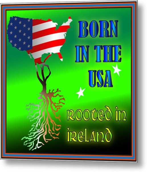 Born In The Usa Rooted In Ireland Metal Print