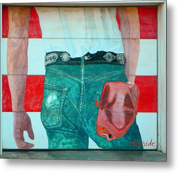 Born In The Usa Urban Garage Door Mural Metal Print