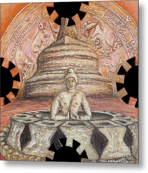 Borobudur Metal Print by Anna Maria Guarnieri